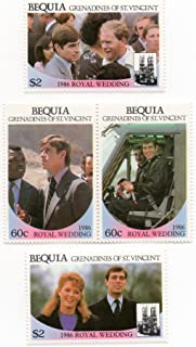 prince andrew and sarah ferguson wedding stamps