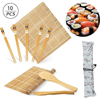 Kit para Hacer Sushi de Bambú,10Pcs Kit de Fabricación de Sushi de ...