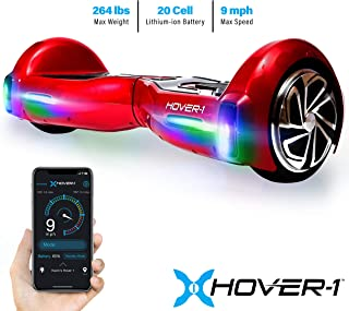 Hover-1 H1 Hoverboard Electric Scooter for Kids and Adult Hover board with Bluetooth Speaker, LED Lights and App Connectivity UL 2272 Certified