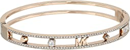 Heritage In Full Bloom Pave Rimmed Bangle with MK Logo