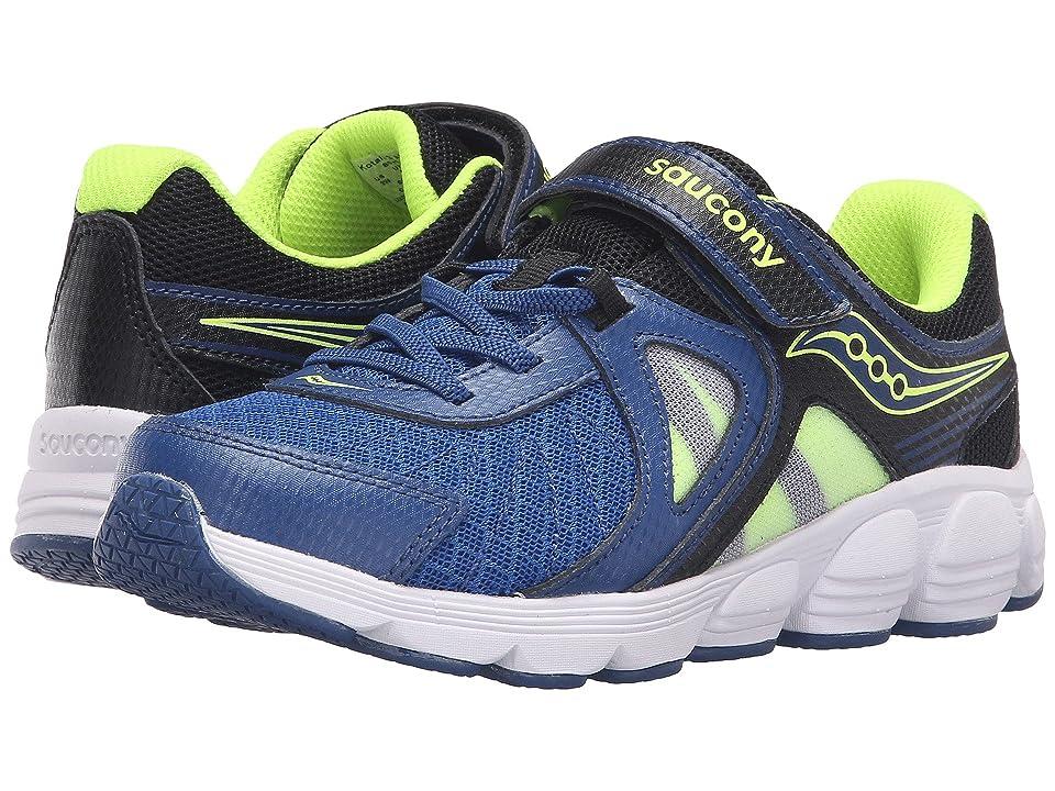 Saucony Kids Kotaro 3 A/C (Little Kid) (Blue/Black/Citron) Boys Shoes