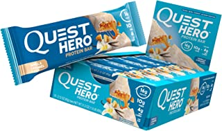 Quest Nutrition Vanilla Caramel Hero Protein Bar, Low Carb, Gluten Free, 10 Count