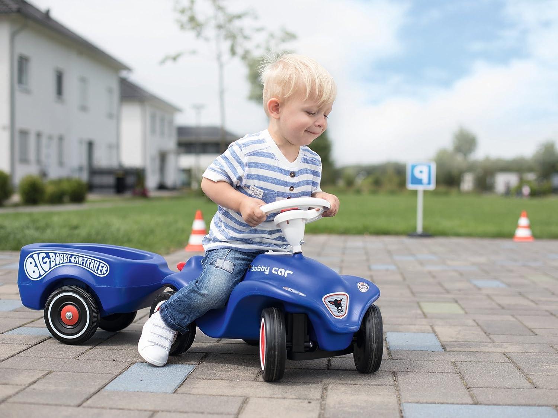 BIG - Fulda-Bobby-Car Trailer - Bobby-Car Anhänger für drinnen und draußen, für das BIG-Bobby-Car und die BIG-Bobby-Scooter, bis 25 kg, für Kinder ab 1 Jahr Royalblau