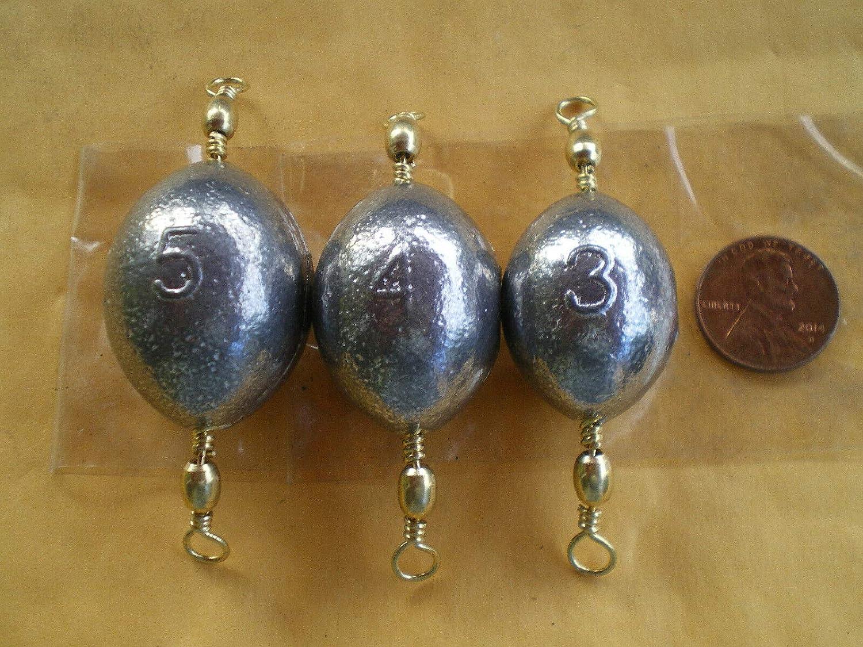 Saltwater Topics on TV Fishing Weights 15 Oklahoma City Mall PCS. #3 Brass Egg Swivel 3 SINKERS