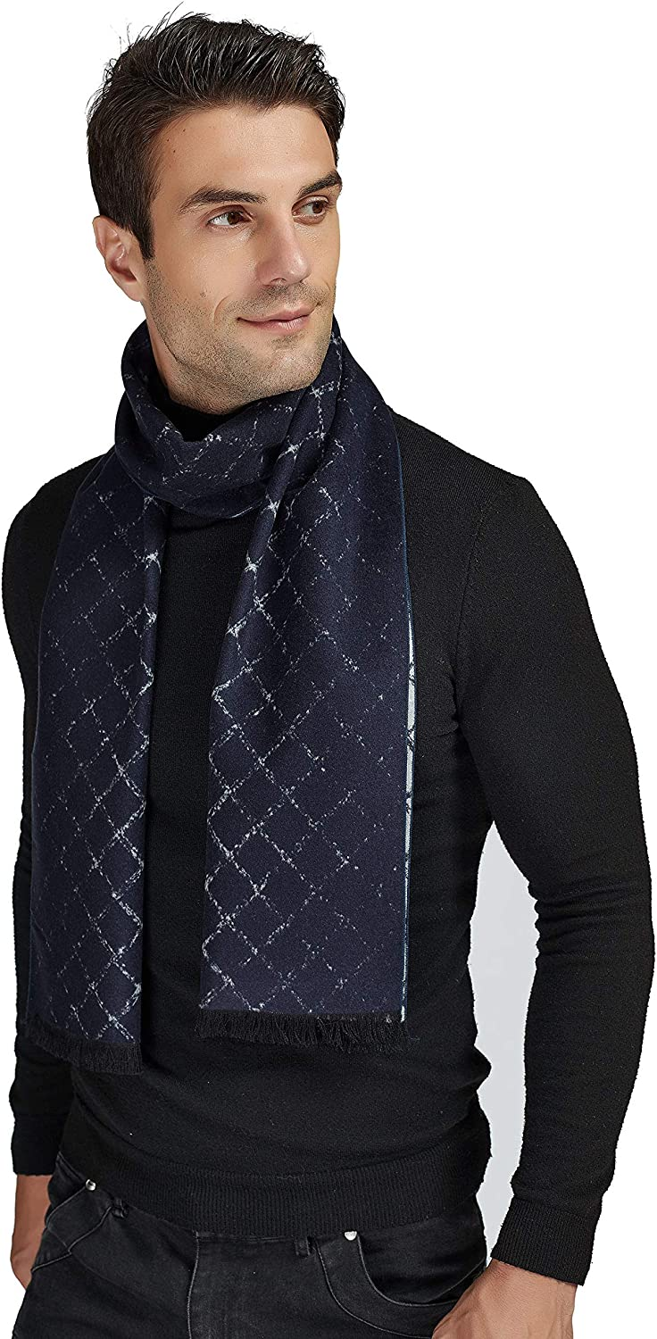 EP Mode Men's Luxury Silk Brushed Scarf for Winter, Exceptionally Soft and Warm