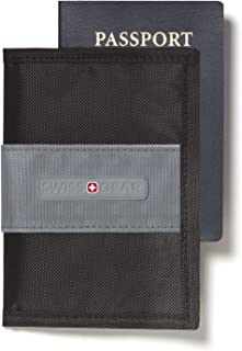 Swiss Gear RFID Protection Passport Cover With Bi-fold Cover to Conceal, Shield and Personalize Your Passport