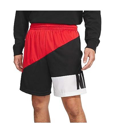Nike Dry Starting5 Asymmetric Shorts (University Red/Black/White/Black) Men
