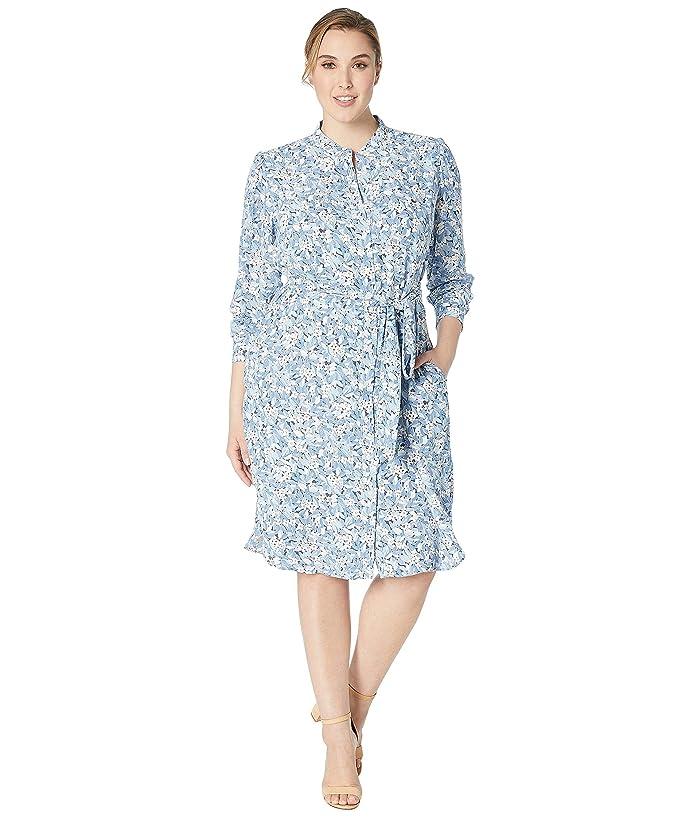 LAUREN Ralph Lauren Plus Size Floral Georgette Dress | 6pm