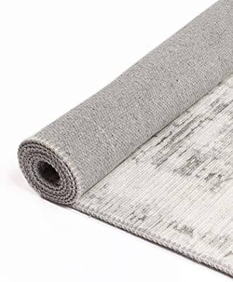 Abstract Evalina Grey Rug- Perfect for Living Rooms, Bedrooms, Dining Rooms/Easy to Clean, Durable, Stylish and More