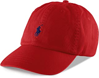 Polo Ralph Lauren Men s Classic Pony Logo Hat Cap (BSR RL2000 Red) One Size 5a6aa8dc9a84