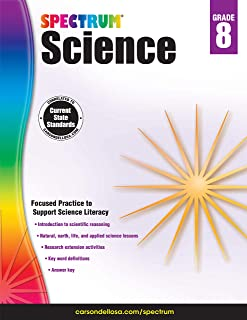 Carson Dellosa – Spectrum Science, Focused Practice to Support Science Literacy for 8th Grade, 176 Pages, Ages 13–14 with Answer Key