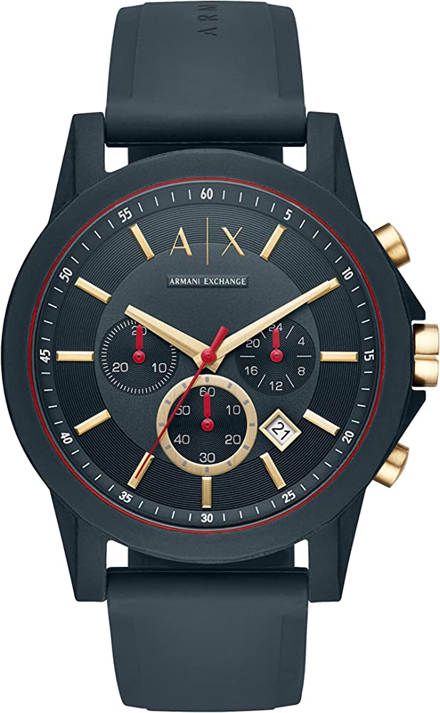 Armani exchange orologio cronografo uomo con cinturino in acciaio inossidabile AX1335