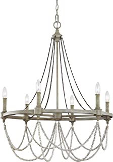 Feiss F3132/6FWO/DWW Beverly Candle Chandelier Lighting, White, 6-Light (28