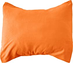 product image for SheetWorld Comfy Travel Pillow Case - 100% Soft Cotton Jersey Knit - Deep Orange - Made In USA