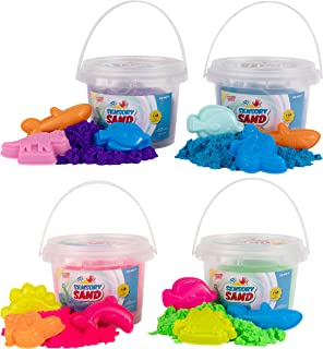 Sensory Sand Party Pack of Sand with Sea Molds (4 Pack)