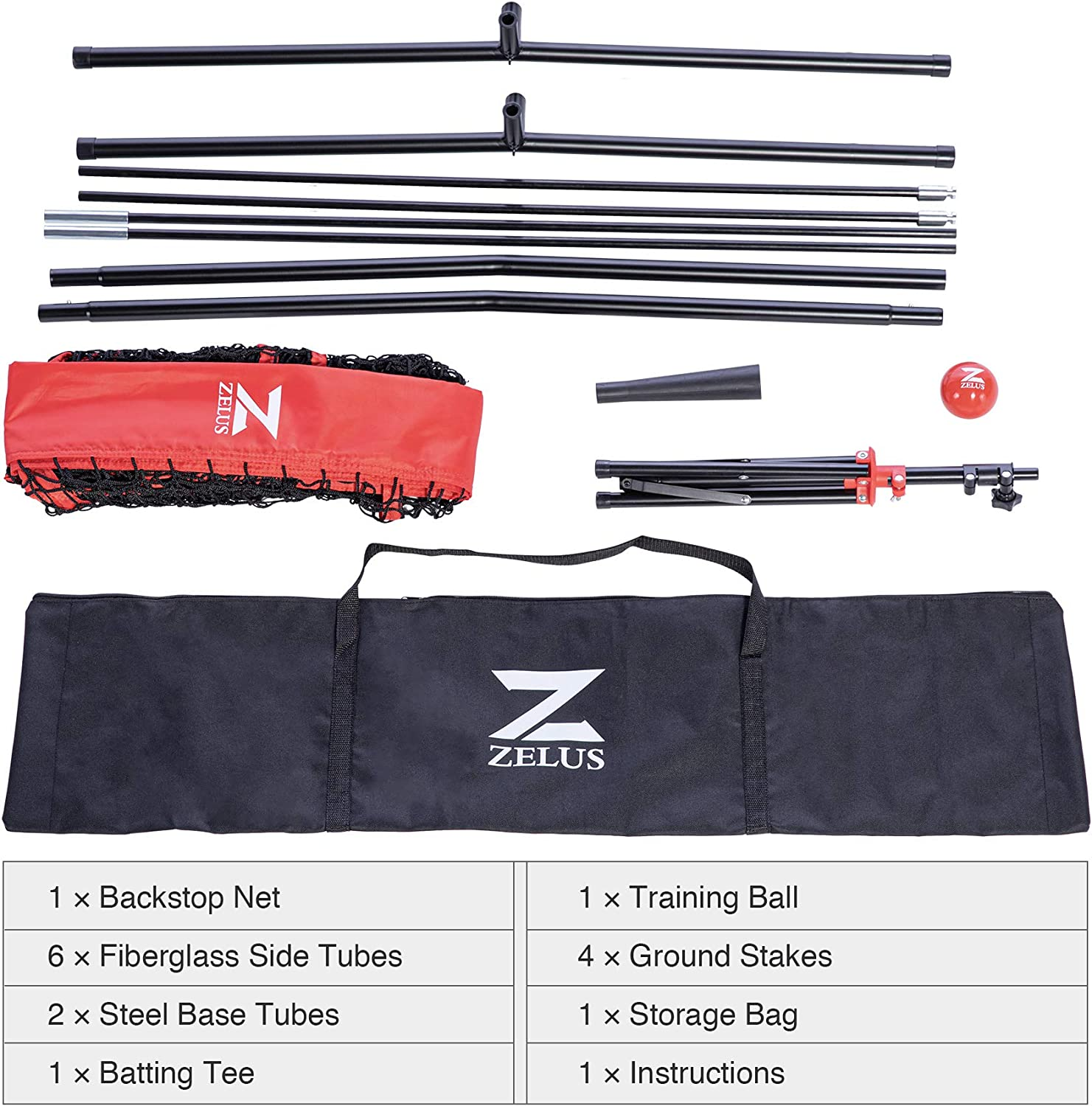 2.8 16oz Weighted Baseball and Carry Bag for Batting Hitting and Pitching ZELUS 7x7ft Baseball Softball Practice Net Portable Baseball Net with Tee