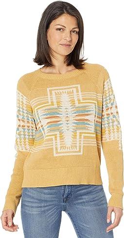 Raglan Cotton Graphic Sweater