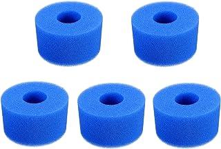 Poweka Esponja de Espuma de Filtro de Piscina de Repuesto para Intex Tipo S1, Filtro de Cartucho de Esponja Reutilizable y Lavable para Piscina Jacuzzi SPA (5 Piezas)