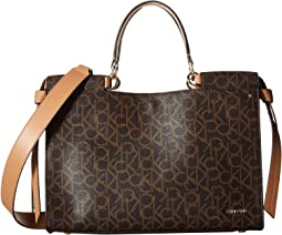 Callie Monogram Satchel