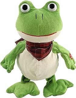 Houwsbaby Croaking Frog Musical Stuffed Animal Frolick Meadow Froggy Shaking and Waving Electronic Interactive Animate Plush Toy Halloween Christmas, 12 inches (Green)