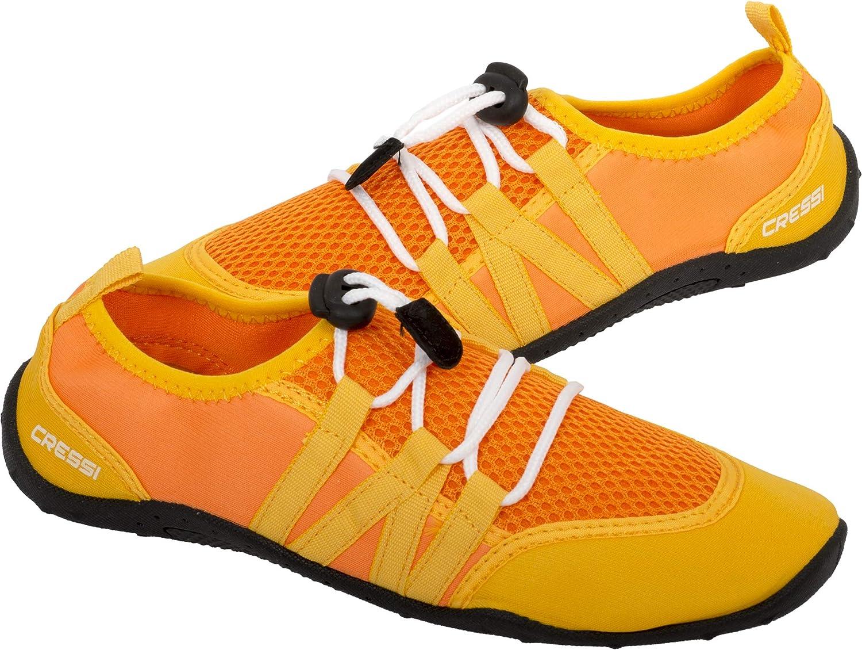 Cressi Unisex's Elba Pool Shoes Water, Orange/Yellow, 4.5 UK