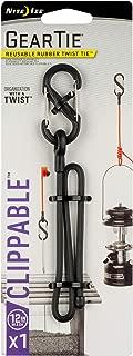 Nite Ize GLC12-01-R3 9305 Gear Tie, 12-inch, 1 Pack, Black