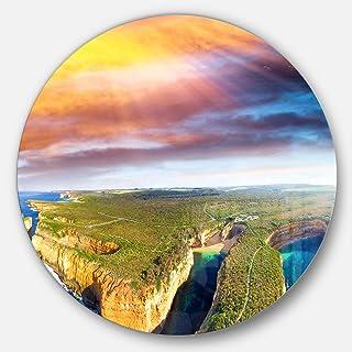 Designart Wall Art - Disc of 23, 23X23-Disc of 23 inch, Blue
