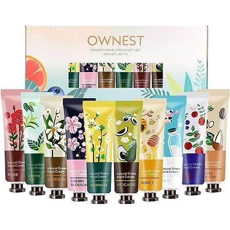 Ownest Crema da mani al profumo di piante da 10 mani con crema idratante Set da viaggio con proteine aloe e vitamina E per uomini e donne-30ml