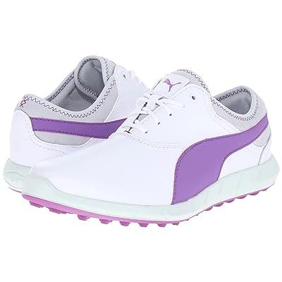 PUMA Golf Ignite Golf (White/Purple Cactus Flower/Glacier Gray) Women