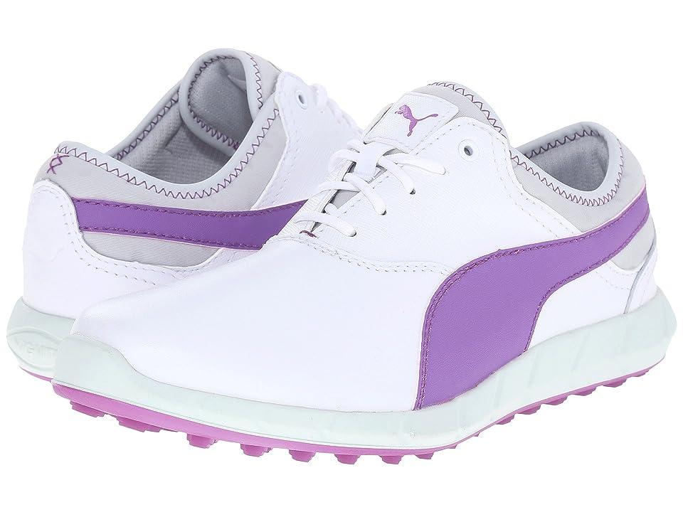 PUMA Golf Ignite Golf (White/Purple Cactus Flower/Glacier Gray) Women's Golf Shoes