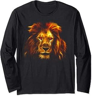 Bodybuilder Fierce Lion Face Beast Gym Rise & Grind Gift Long Sleeve T-Shirt