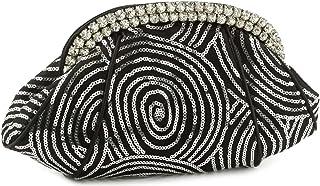 حقيبة يد صغيرة مرصعة بأحجار الراين J4009512 من جيسيكا مكلينتوك - لون أسود