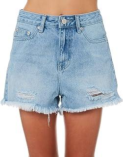 The Hidden Way Girls Girls Hi Way Denim Short - Teen Cotton Fitted Blue