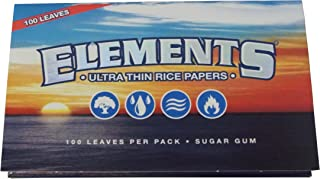 3 booklets Elements エレメンツ Ultra Thin Rice Rolling Papers 70mm Single Wide Double Pack エレメンツ レギュラーサイズ ローリングペーパー ライス製 シングルワイド 100枚×3冊セット [並行輸入品]