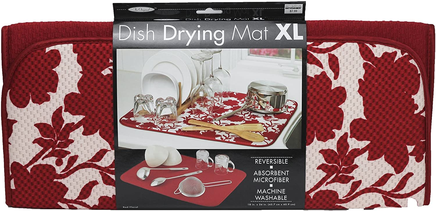 The Original Red Max 40% OFF Floral Super sale Mat Dish Drying