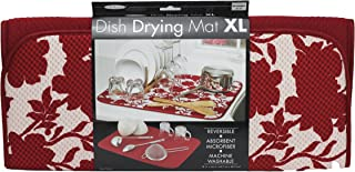 The Original Dish Drying Mat, Red Floral