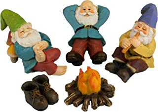 Twig & Flower The Relax by The Campfire (Five Piece) Mini Gnome Set
