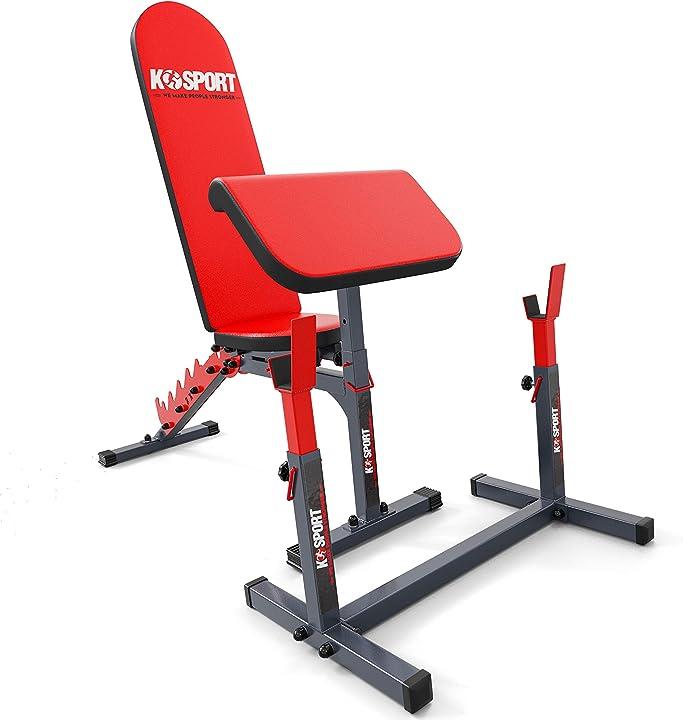 Panca scott + panca pieghevole allenamento k-sport - fitness - bodybuilding - home gym B07FDX6LFP