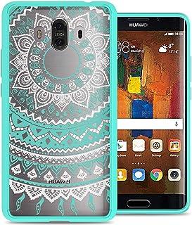Huawei Mate 10 Case Cover, CoverON, Clear Back Panel, Teal Mandala Bumper