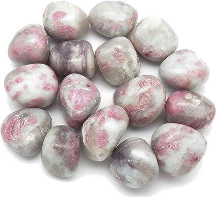 Rubellite Stone Tourmaline Quartz Tourmaline in Quartz Tumbled Rubellite
