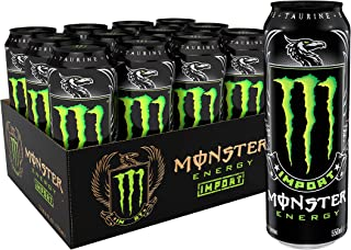 Monster Energy Import, Energy Drink, 18.6 Ounce (Pack of 12)