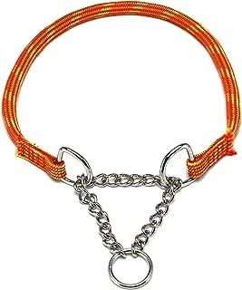 ドッグ・ギア ザイルハーフチョーク首輪 ロープ径10mm オレンジ ぴったりサイズ 「ザイルリードとカラーコーディネートできる首輪です」