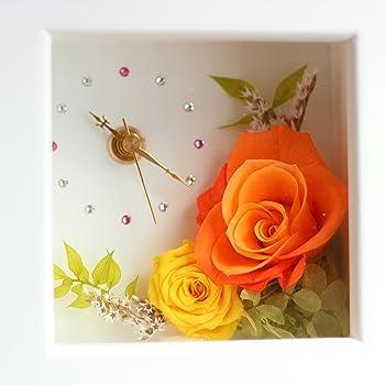 Azurosa(アズローザ) プリザーブドフラワー 時計 花の時計 ギフト キャンディーローズ バラ アジサイ マンゴー