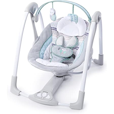 Jonerytime/_Outdoor/&Sport Baby Swing【Shipped from US Warehouse】 Jonerytime/_Electric Portable Baby Swing Cradle for Infants Rocker Swing Chair with Music