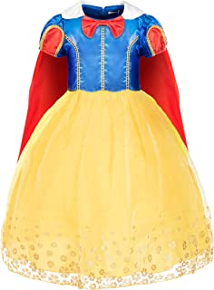 FUNNA Snow White Costume Princess Dress for Toddler Girls Halloween Birthday Party