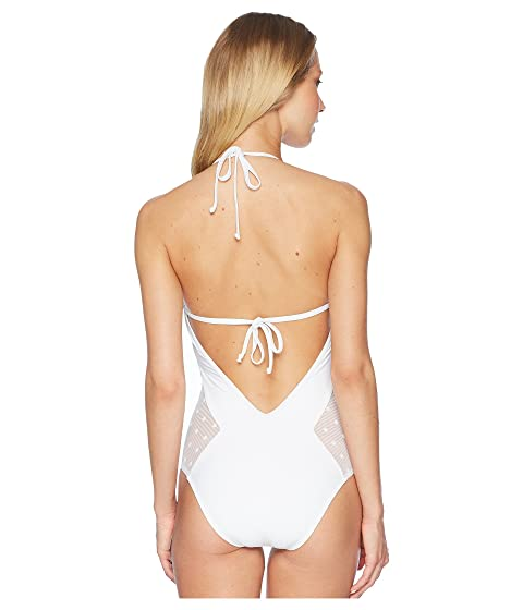 White Ella Moss One Piece Sheer Dot Wccq0a46R