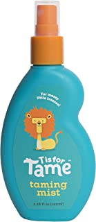 T is for Tame   100% Natural Hair Taming Spray   Baby, Toddler & Up   Chemical Free   Jojoba and Coconut Oil