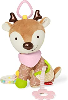 Skip Hop Bandana Buddies Baby Activity and Teething Toy with Multi-Sensory Rattle and Textures, Deer