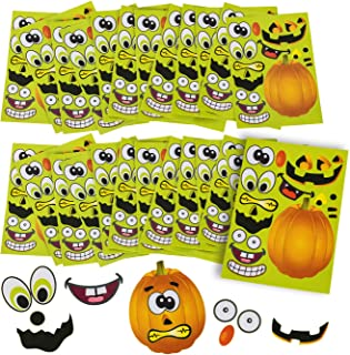 Halloween Stickers - 24 Sheets Kids Jack O' Lantern Pumpkin Stickers Tigerdoe