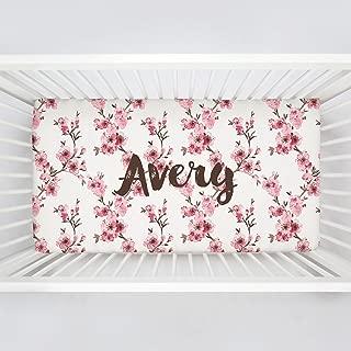 cherry blossom crib sheet